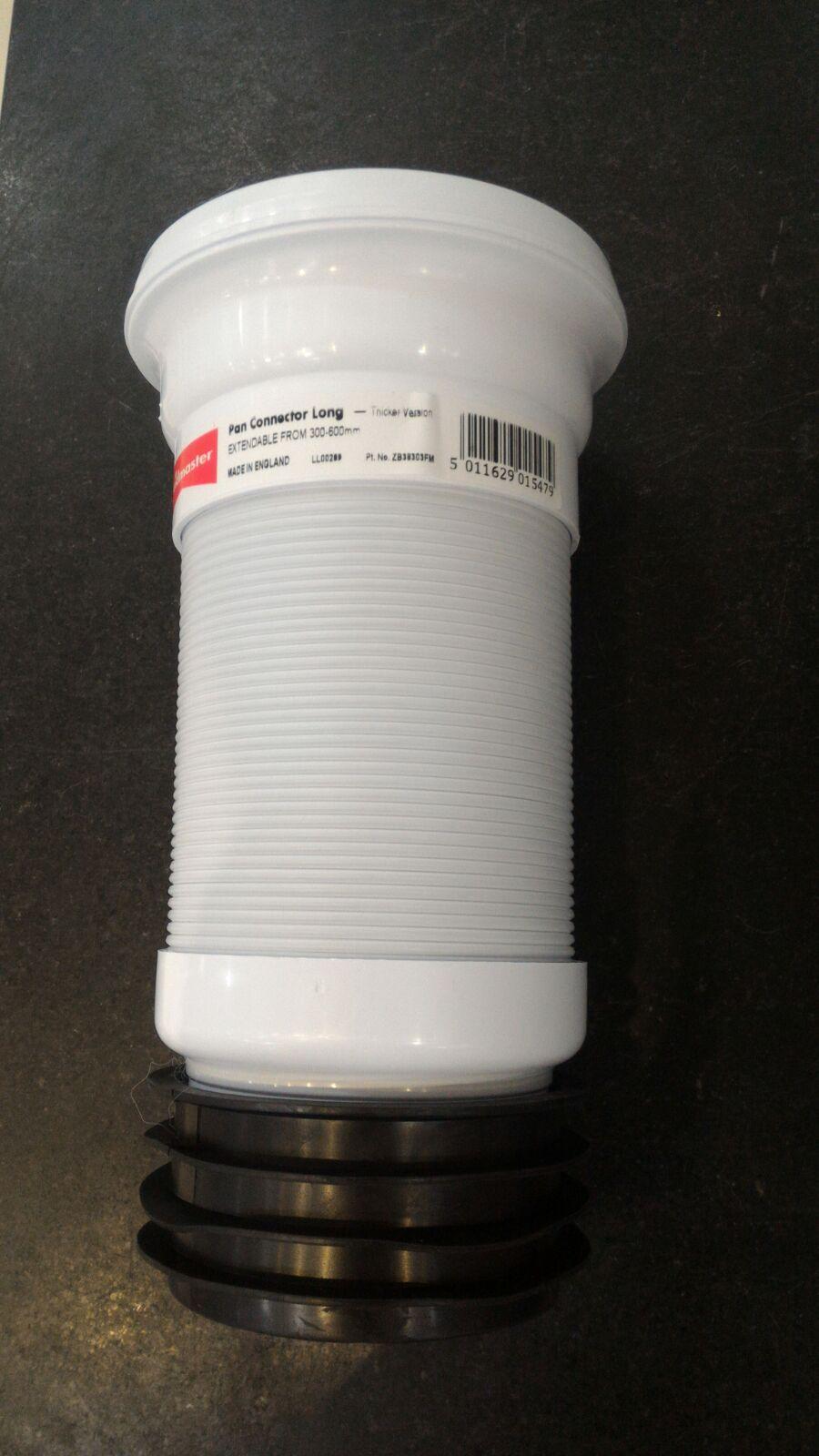 Fluidmaster 伸縮座廁駁咀 ZB38303DB 300-600mm 厚料