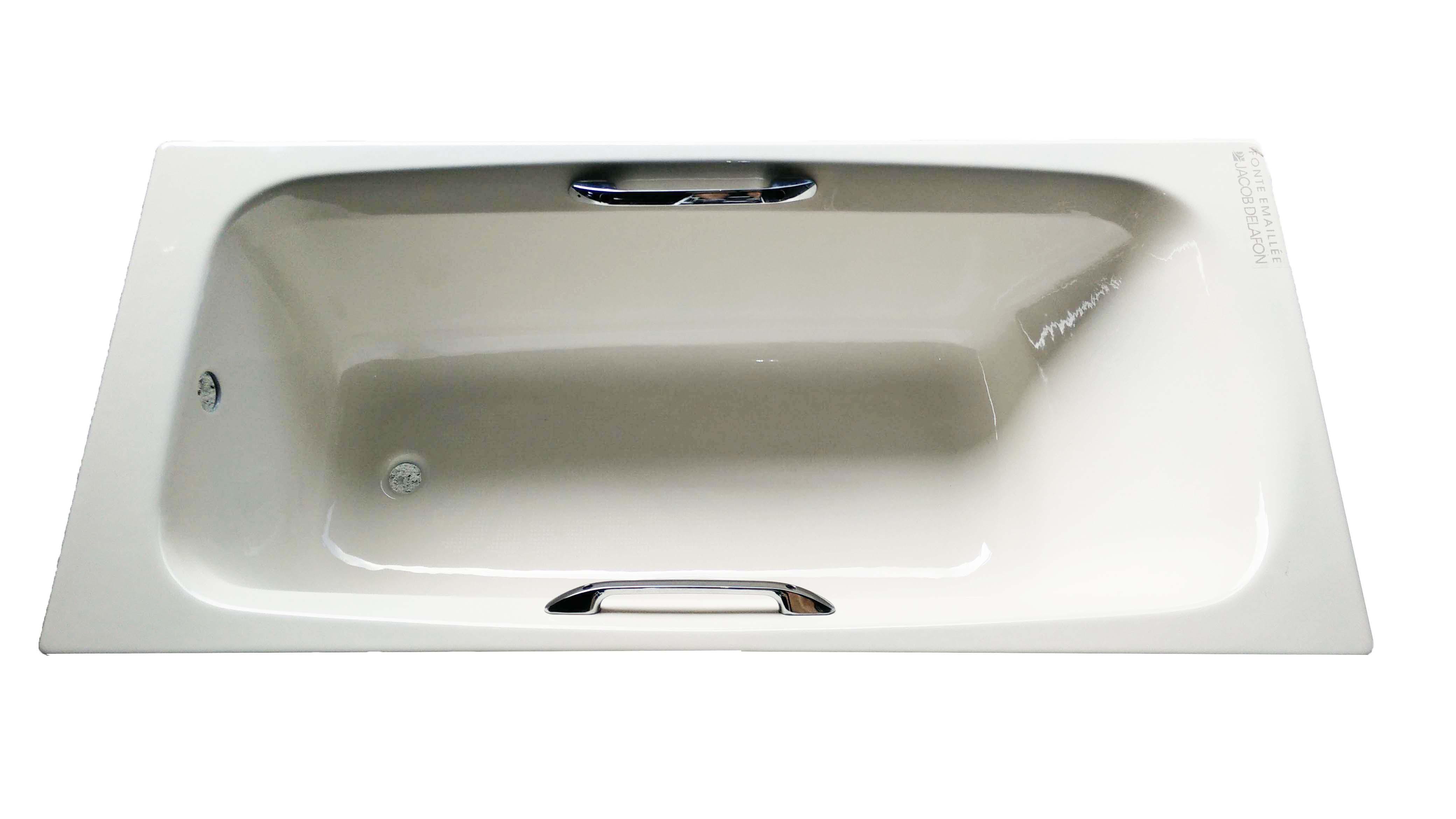 Jacob Delafon Diapason 2936-5M 扶手生鐵浴缸 1600x750mm 淺骨色