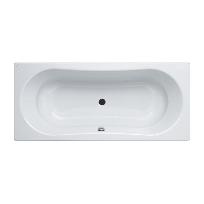 瑞士 Laufen Thallium 225090 鋼板浴缸 1800x800mm 白色 (有防滑及隔音墊)
