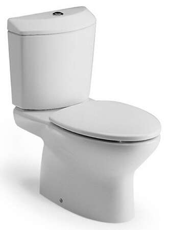 西班牙 ROCA Georgia-2 相連式自由咀座廁配油壓廁板白色