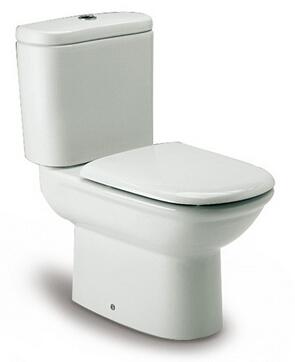 西班牙 ROCA Giralda-2 相連式自由咀座廁配油壓廁板白色