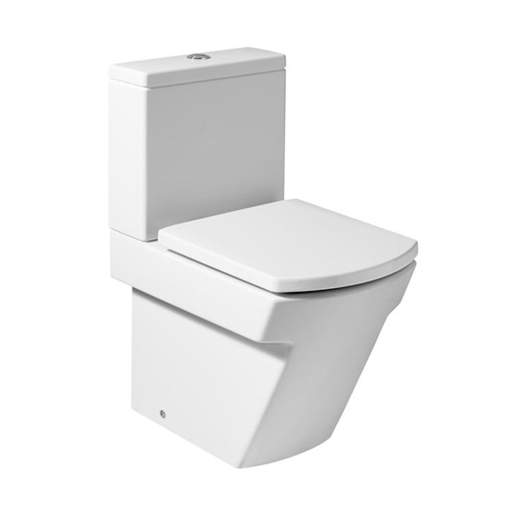 西班牙 ROCA Hall 相連式自由咀座廁配歐樂廁板白色