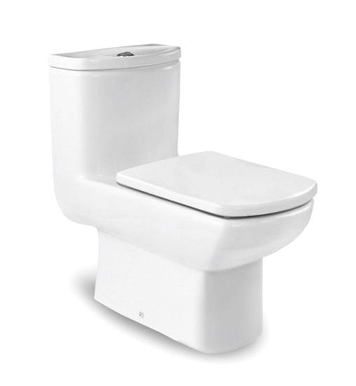 西班牙 ROCA Dama Senso-1 整體式自由咀座廁配油壓廁板白色