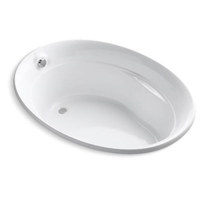 美國 KOHLER Serif 1183T 橢圓形纖維浴缸 1525x1060x533mm 白色