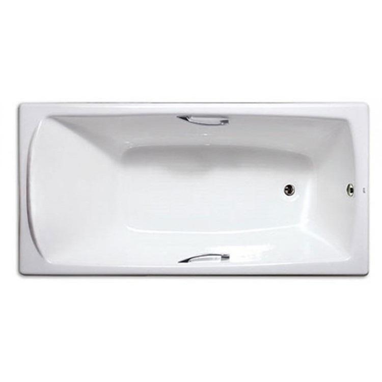 西班牙 ROCA Mykonos 2N0370 生鐵浴缸連扶手 1500mmx750mm 白色
