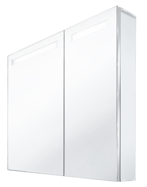 Walrus 800804 鋁合金大小雙門鏡櫃 800x700x130mm