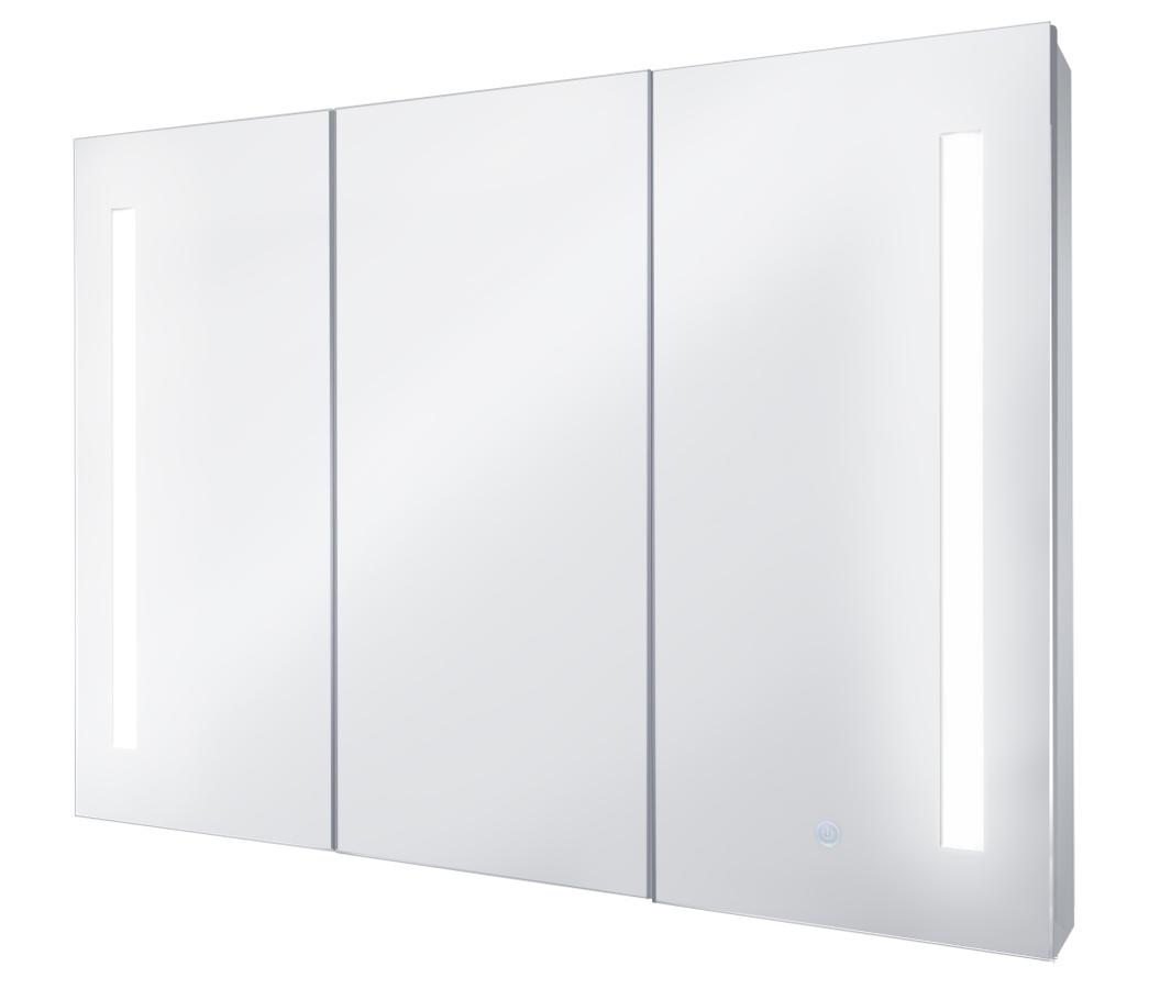 WALRUS 800808 鋁合金三門鏡箱兩邊LED燈 900X650X130