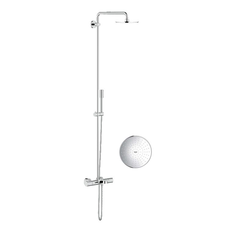 德國Grohe Rainshower® System 210 27641 明牆圓形雨淋式花灑組合連恆溫浴缸龍頭