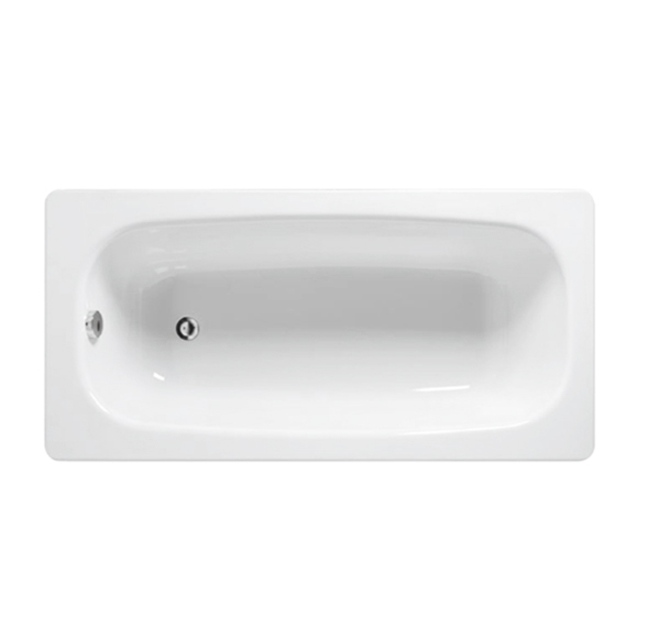 意大利 Smavit Granada 鋼板浴缸 1525x725x410mm 白色 (有防滑及隔音墊)