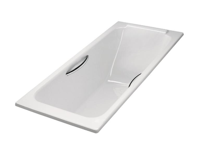 美國 KOHLER Parallel 1875T-GR 嵌入式生鐵浴缸連扶手 1500x700x450mm 白色