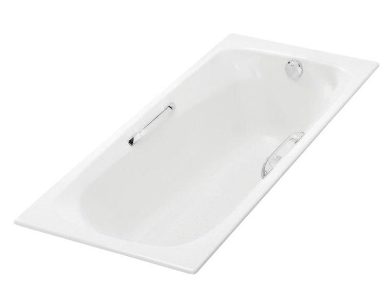 美國 KOHLER Melanie 17502T-GR 嵌入式生鐵浴缸連扶手 1500x700x418mm 白色