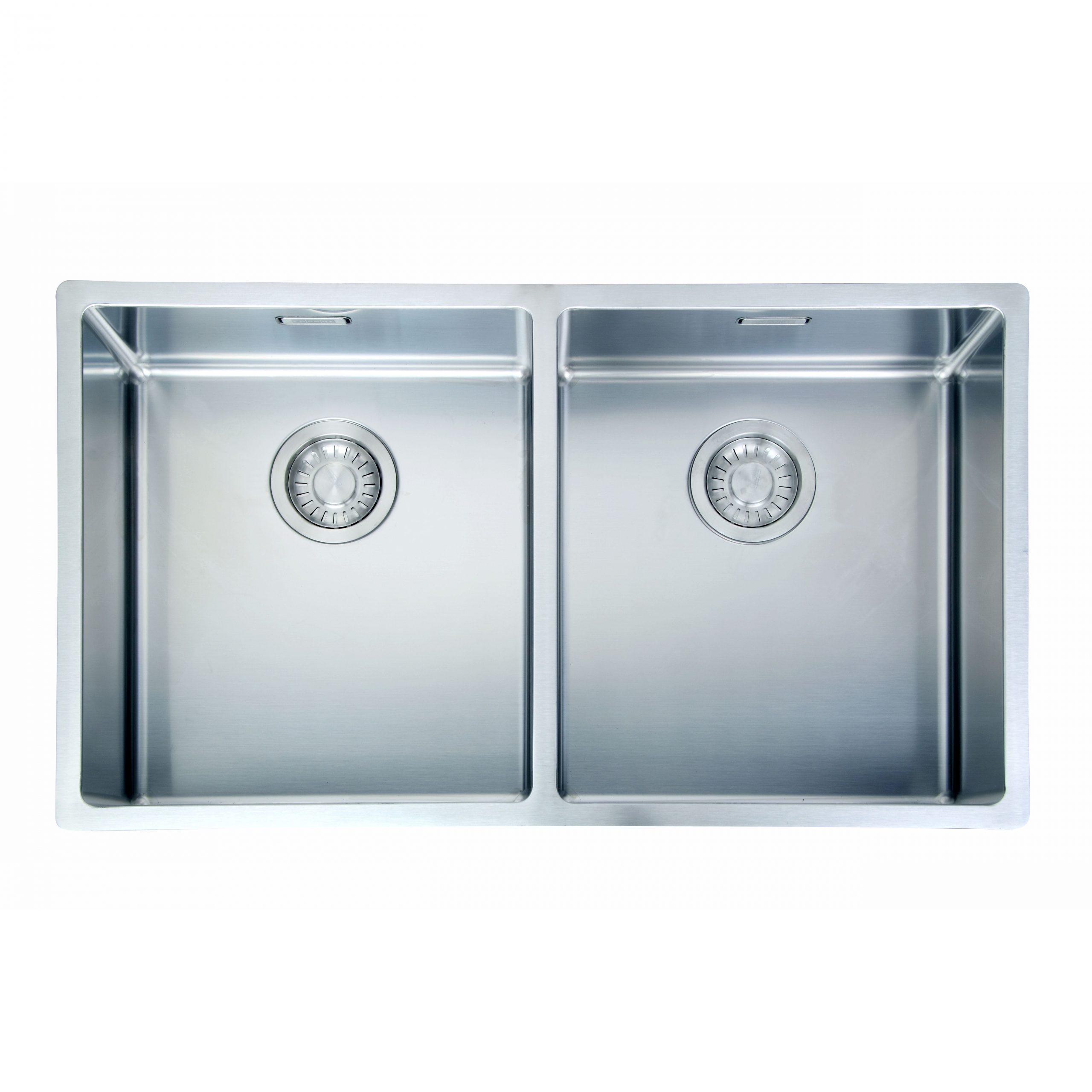 瑞士 FRANKE BOX BXX220-36-36 不鏽鋼雙膽平邊廚盆 782x450x200mm (檯面/底/平頂)