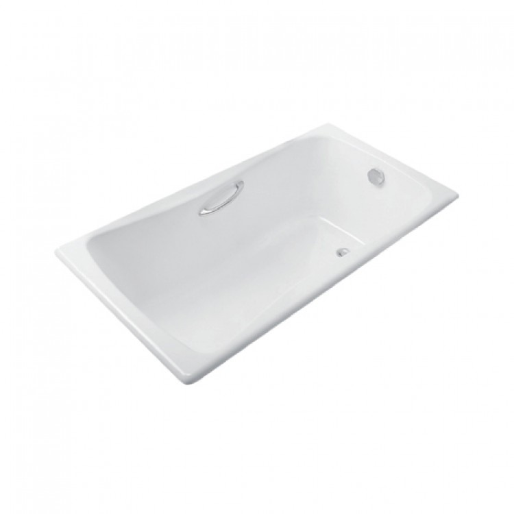 美國 KOHLER Bliss 17270.GR 生鐵浴缸 含扶手孔連扶手K-17275T-CP 1500mmx750mm 白色