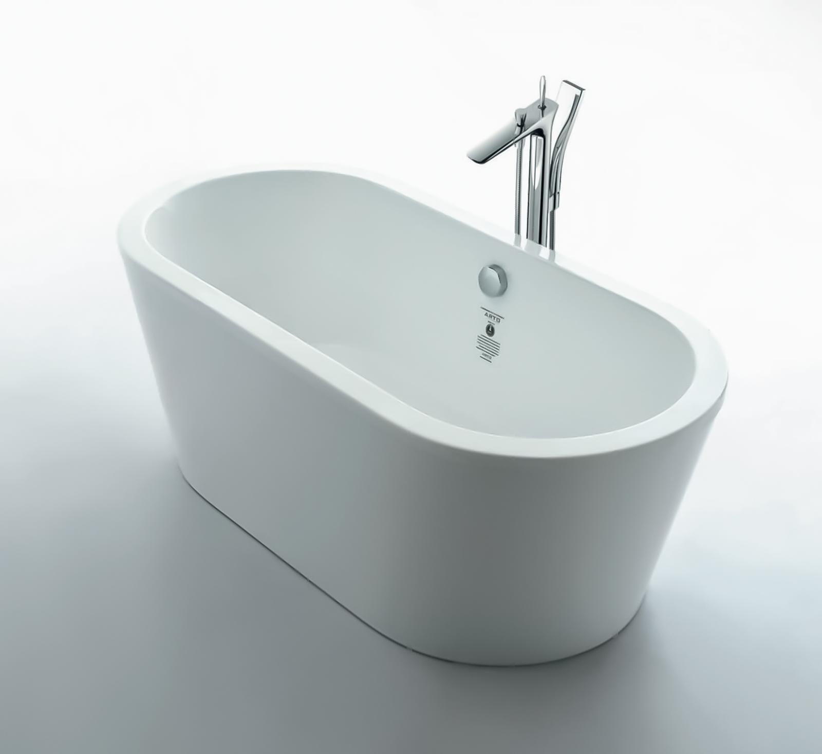Walrus ARTOIIB-00 獨立式橢圓型纖維浴缸 1500x750x550mm 白色