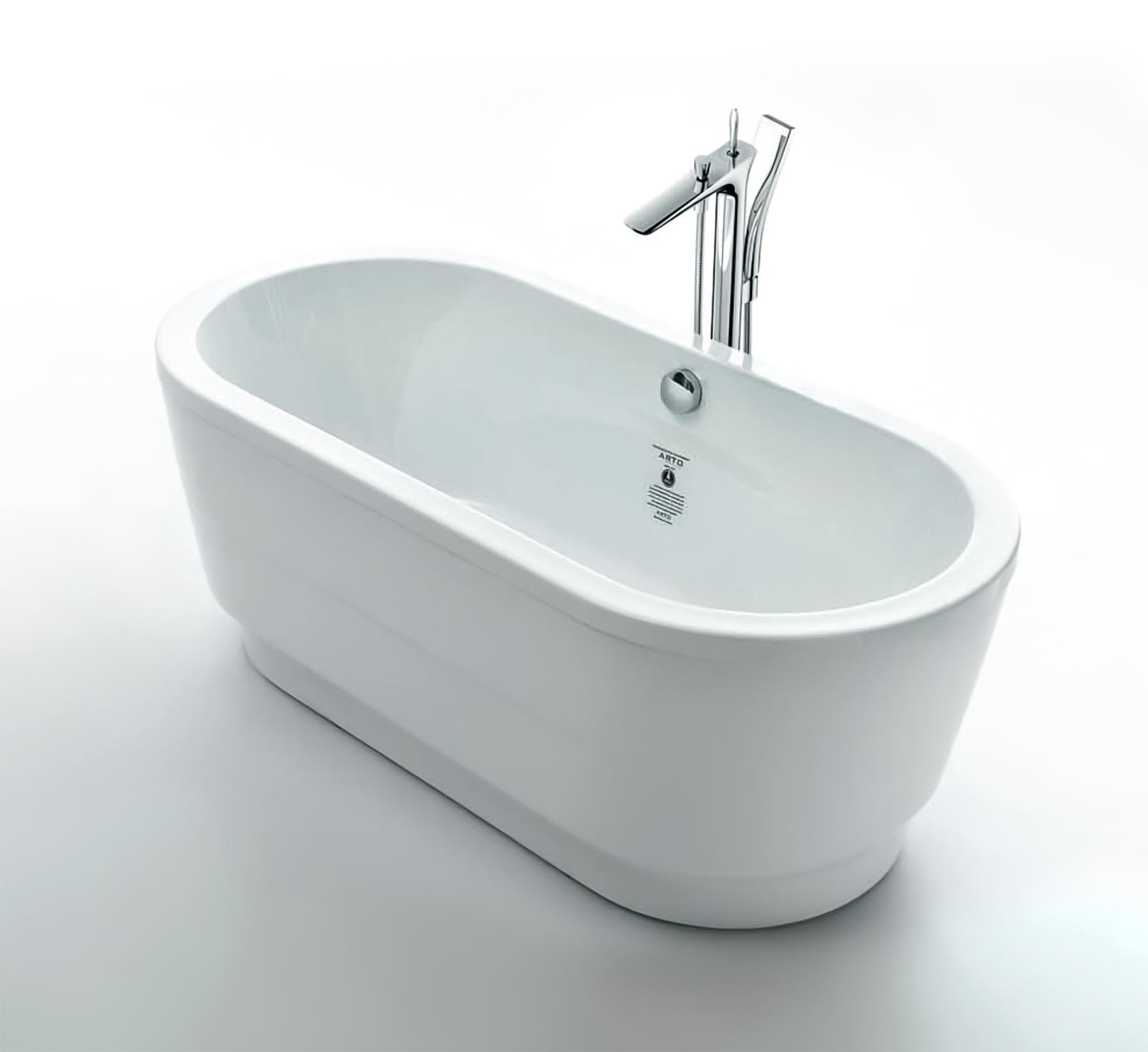 Walrus LC160B 獨立式橢圓型纖維浴缸 1600x750x580mm 白色