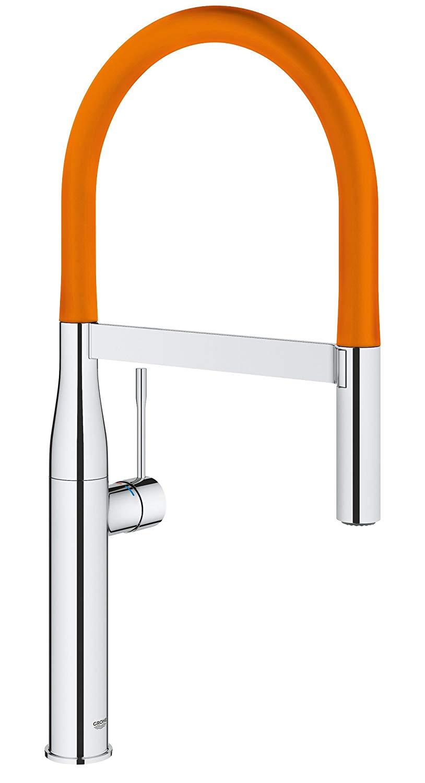 德國 GROHE Essence Professional 124974 廚盆龍頭 連矽膠出水管 (橙色 30321YR0)