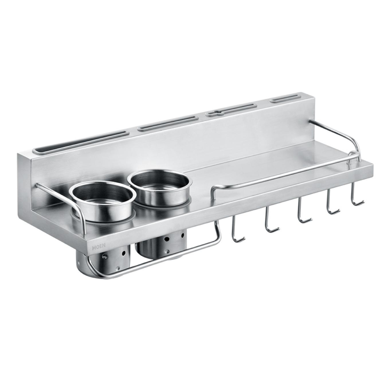 美國 Moen Celine KAC0102SL 不鏽鋼多功能廚房置物掛架 500mm (拉絲銀)