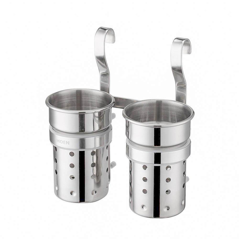 美國 Moen Winston KAC0242 不鏽鋼雙筒筷子掛桶