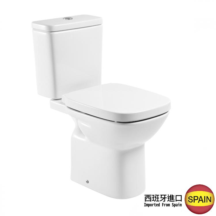 西班牙 ROCA Debba-2 相連式高咀座廁 配油壓廁板白色