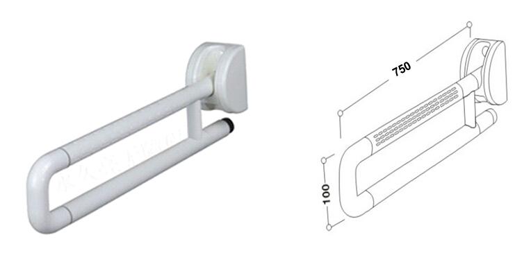Walrus 3188816 華樂詩 塑料升降扶手通 (750mm) (白色)