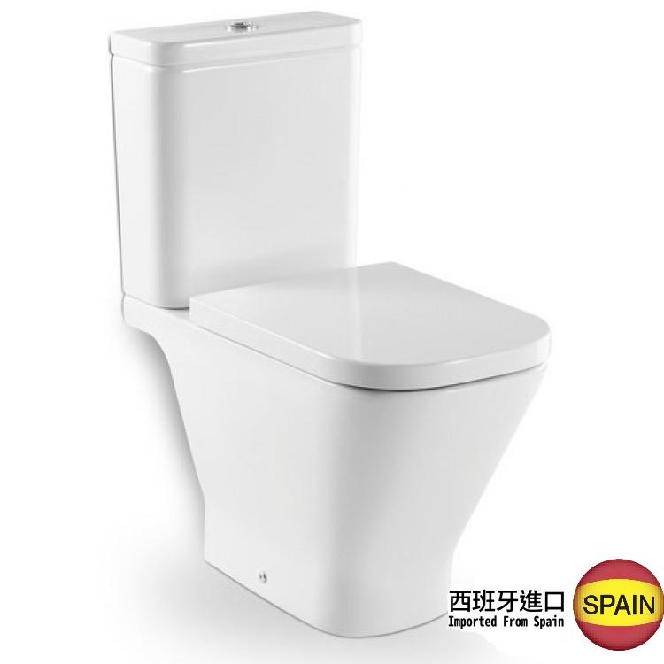 西班牙 ROCA Gap-2 相連式自由咀座廁 配油壓廁板 白色 西班牙進口