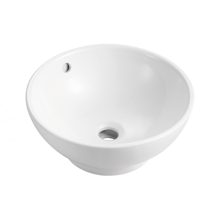 Walrus 250683.1-00 圓形檯上面盆 380x380x160mm 白色