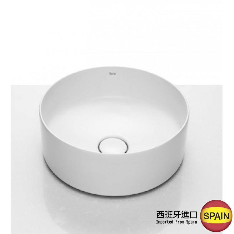 西班牙 ROCA Inspira 327523 圓形檯上面盆連原裝去水(裝飾用) Ø370mm 白色 西班牙進口