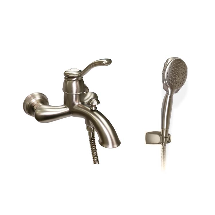 美國 Moen Kingsley 61132SRN 浴缸龍頭連4速手提花灑頭, 喉, 座, 磨砂淺金色防指紋