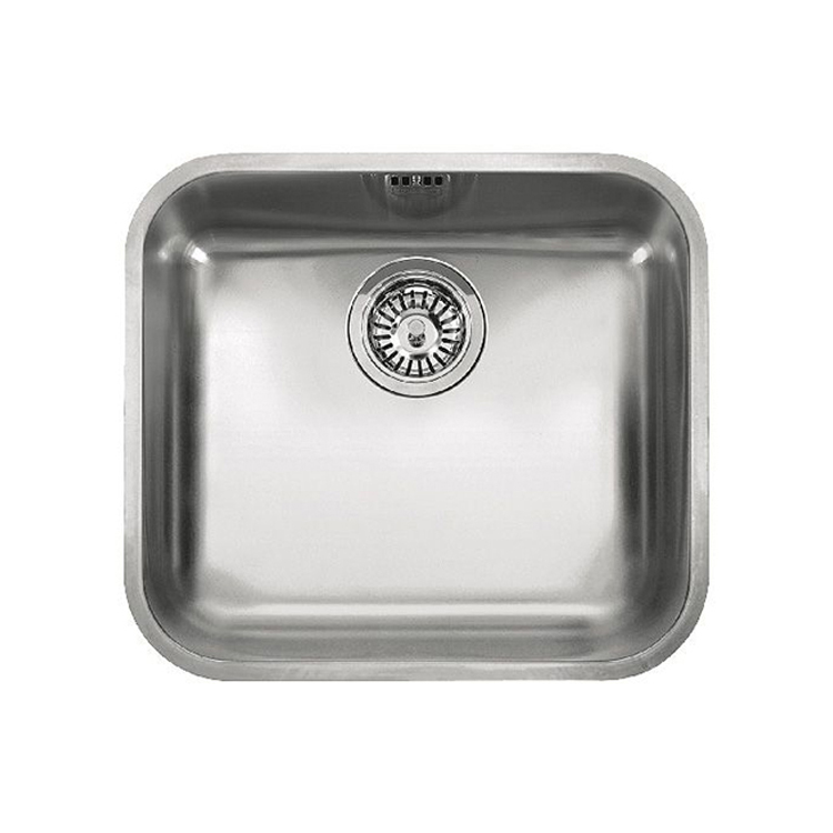 瑞士 FRANKE GALASSIA GAX110-45 不鏽鋼單膽平邊檯底廚盆 482x432x180mm 意大利製造