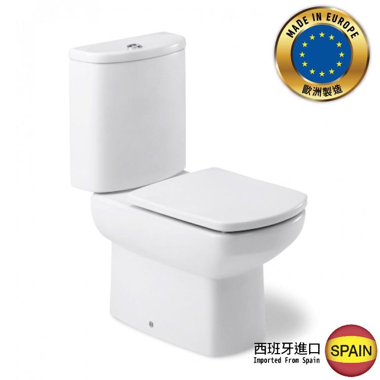 西班牙 ROCA Dama Senso-2 相連式自由咀座廁 配油壓廁板白色 西班牙進口