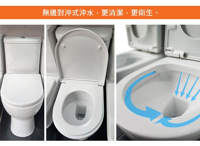 無邊對沖式沖水,更清潔,更衛生。